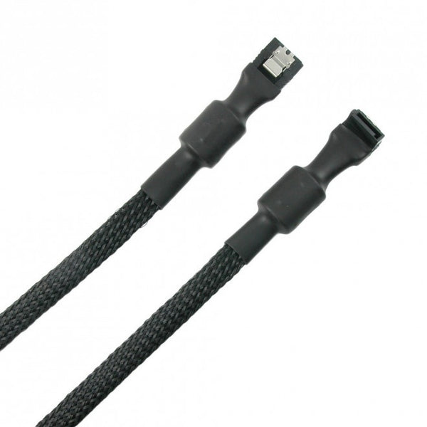 Simplecom CA110L 0.5M Premium SATA 3 III 3.0 HDD SSD Data Cable Sleeved Filtration Lead Clip Angle