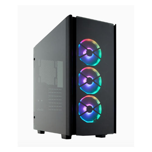 Corsair Obsidian Series 500D RGB SE Mid Tower Case, USB 3.1 Type-C, Premium Tempered Glass and Aluminium, LL120 Fans and Commander PRO