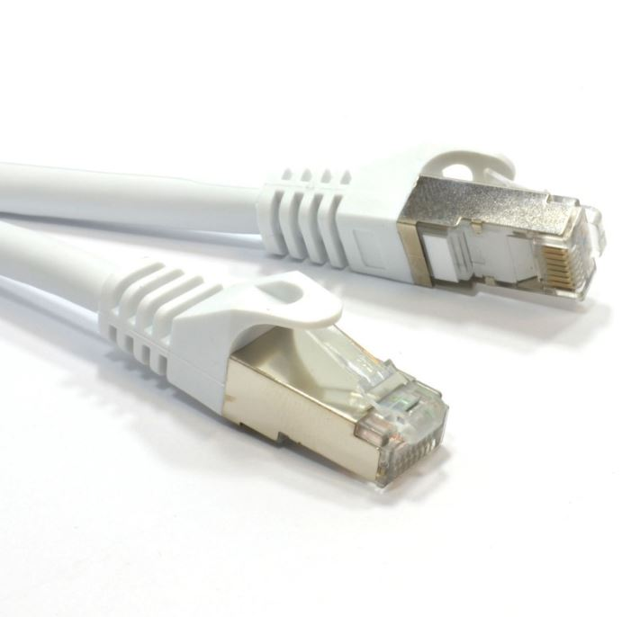 Astrotek/AKY CAT6A Shielded Cable 5m Grey/White Color 10GbE RJ45 Ethernet Network LAN S/FTP LSZH Cord 26AWG PVC Jacket