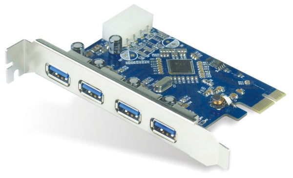 Astrotek 4x Ports USB 3.0 PCIe PCI Express Add-on Card Adapter 5Gbps Windows XP/7/8/10 Server 2008 & later Renesas 720201 Chipset ~USSUN-USB4300NS