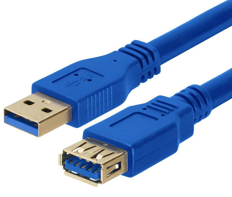 Astrotek USB 3.0 Extension Cable 1m - Type A Male to Type A Female Blue Colour