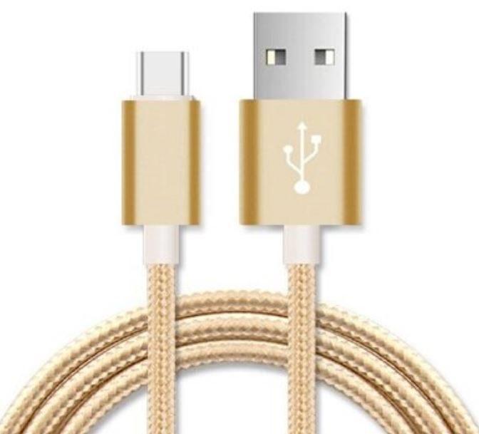 Astrotek 2m Micro USB Data Sync Charger Cable Cord Gold Color for Samsung HTC Motorola Nokia Kndle Android Phone Tablet & Devices