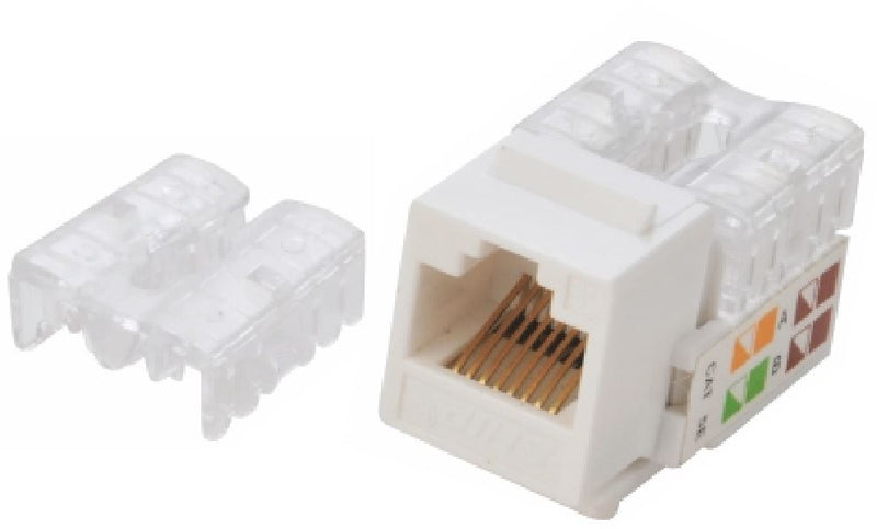 Astrotek/AKY CAT6 UTP Outlets Network Keystone Jack for Socket kit 10pcs per pack Poly Bag White LS