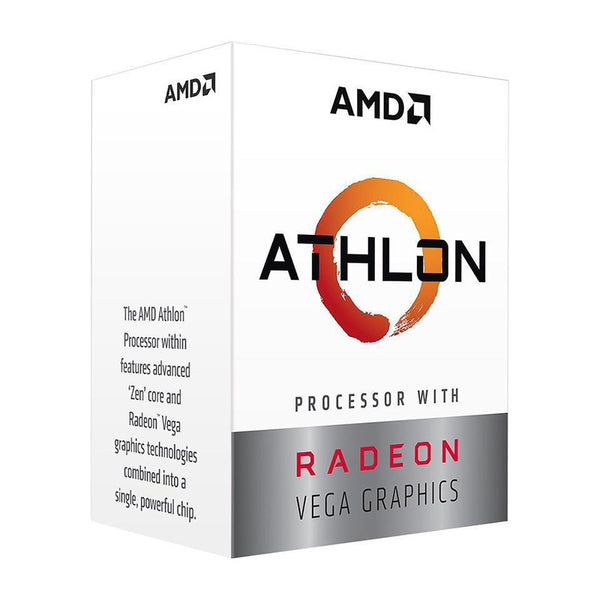 AMD Athlon 200GE, 2 Core 4 Threads AM4 CPU, 3.2GHz 4MB 35W with powerful Radeon Vega 3 Graphics