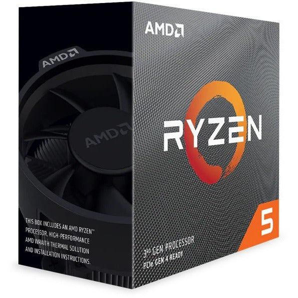 AMD Ryzen 5 3600X, 6 Core AM4 CPU, 3.8GHz 4MB 65W w/Wraith Stealth Cooler Fan
