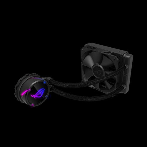 ASUS ROG Strix LC 120 All-in-one Liquid CPU Cooler. Aura Sync, Single ROG 120mm Radiator Fan