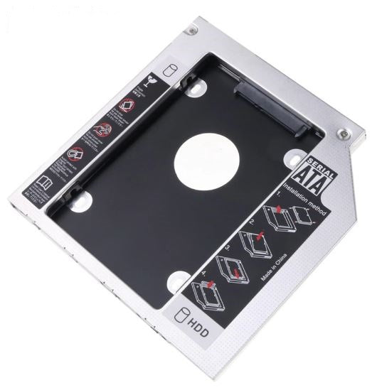 Aluminum 7 & 9.5 mm Internal Hard Drive Caddy for Laptops