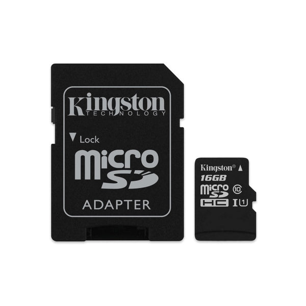 Kingston 16GB MicroSD SDHC SDXC Class10 UHS-I Memory Card 80MB/s Read 10MB/s Write with standard SD adaptor ~FMK-SDC10G2-16 SDC10G2/16GBFR