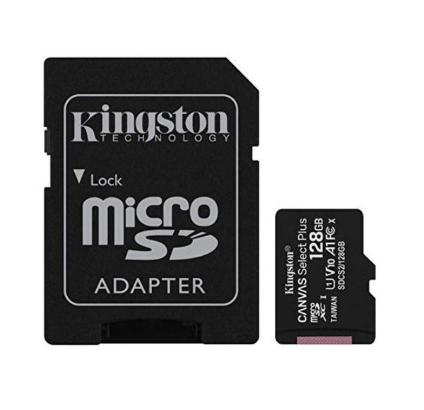 Kingston 128GB MicroSD SDHC SDXC Class10 UHS-I Memory Card 80MB/s Read 10MB/s Write with standard SD adaptor ~SDCS2-128