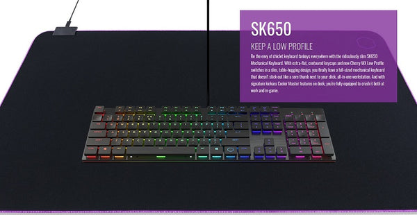 Cooler Master Keyboard, Mouse & Mouse Mat Bundle