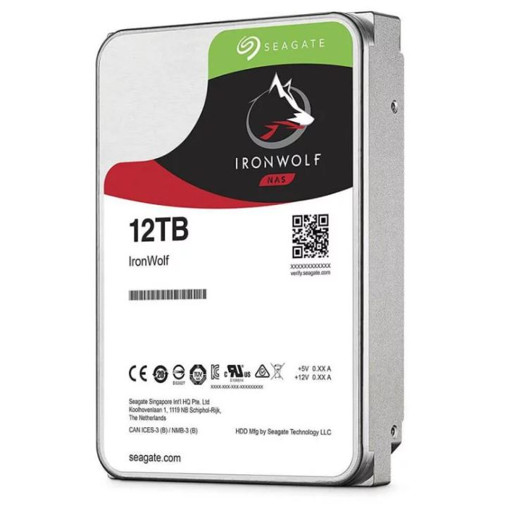Seagate 12TB 3.5' IronWolf SATA3 NAS 24x7 7200RPM Performance HDD (ST12000VN0008) 3 Years Warranty