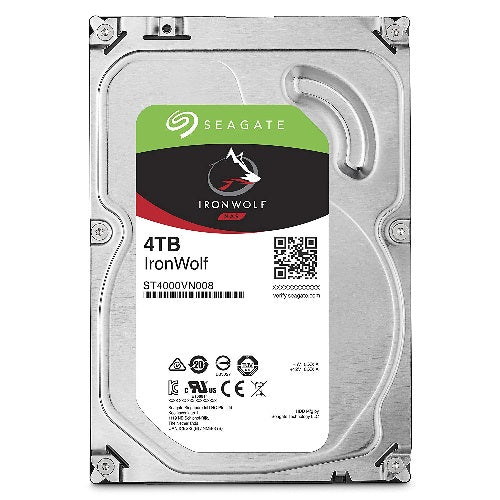 Seagate 4TB 3.5' IronWolf NAS 5900 RPM 64MB Cache SATA 6.0Gb/s 3.5' HDD (ST4000VN008)