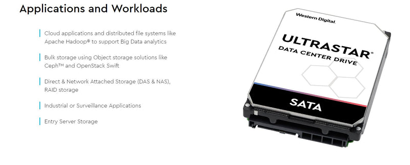 WD 8TB Ultrastar Enterprise. 3.5' SATA, 512E SE, 256MB Cache, DC HC320, 5 Years warranty 0B36404