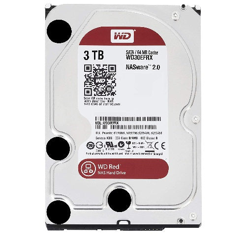 WD Red 3TB NAS 64MB 3.5' 5400RPM SATA3 6Gb/s 64MB Cache