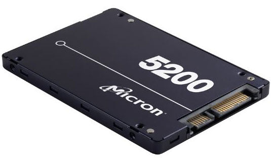 Micron 5200 ECO 1.92TB 2.5' SATA3 6Gbps 7mm Server Data Centre SSD 3D TLC NAND 540R/520W MB/s 95K/22K IOPS 1DWPD 3 Mil hrs 5yrs Crucial