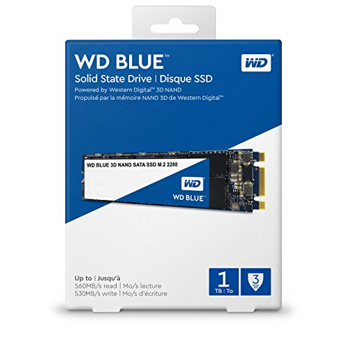 Western Digital Blue 1TB 3D NAND M.2 2280 SSD 560/530 R/W. 3 Years Warranty - WDS100T2B0B