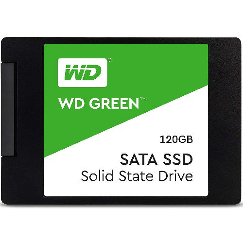 Western Digital Green 120GB 2.5' 3D NAND SSD 7MM 540/430 R/W, SATA 6GB. 3 Years Warranty
