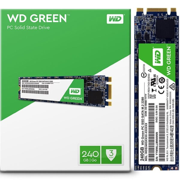 Western Digital Green 240GB M.2 2280 SSD Transfer speeds up to 545MB/s - 3 Years Limited Warranty