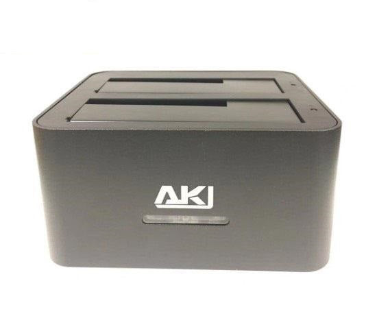 AKY 3.5/2.5 inch Dual Bay HDD Docking Station USB 3.0