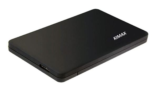 KIMAX 2.5' USB 3.0 SATA Screwless external HDD Enclosure Black