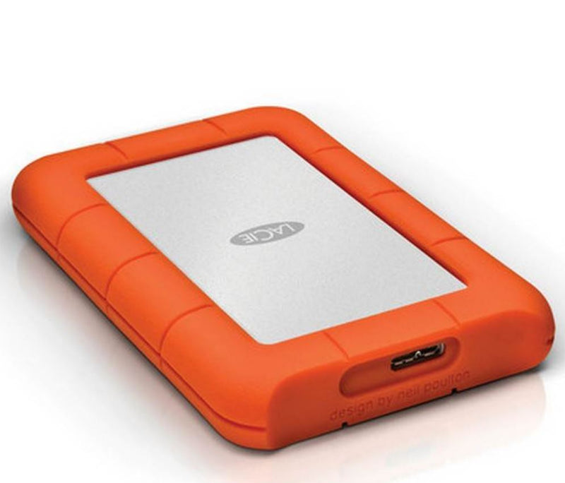 Seagate LaCie 2TB Rugged Mini Portable USB 3.0, USB-C Cable. External HDD LAC9000298, 2 Years Warranty