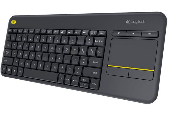 Logitech K400 Plus Wireless Keyboard with Touchpad & Entertainment Media Keys Tiny USB Unifying receiver for HTPC connected TVs ~KBLT-K830BT