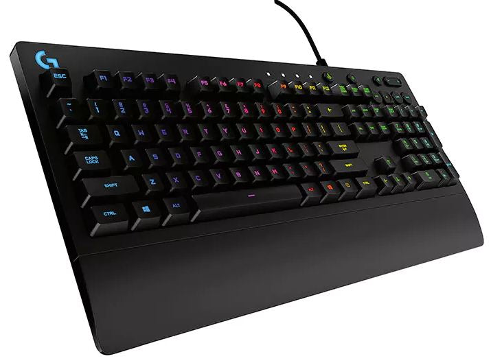 Logitech G213 Prodigy RGB Gaming Keyboard, 16.8 Million Lighting Colors Mech-Dome Backlit Keys (920-008095)