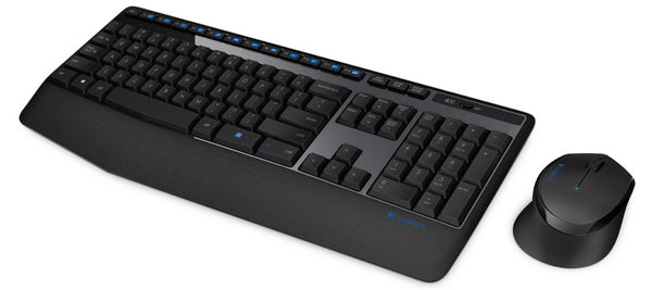 Logitech MK345 Wireless Keyboard & Mouse Combo Full Size 12 Media Key Long Battery Life Comfortable