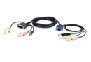 Aten 1.8m USB VGA to DVI-A KVM Cable with Audio