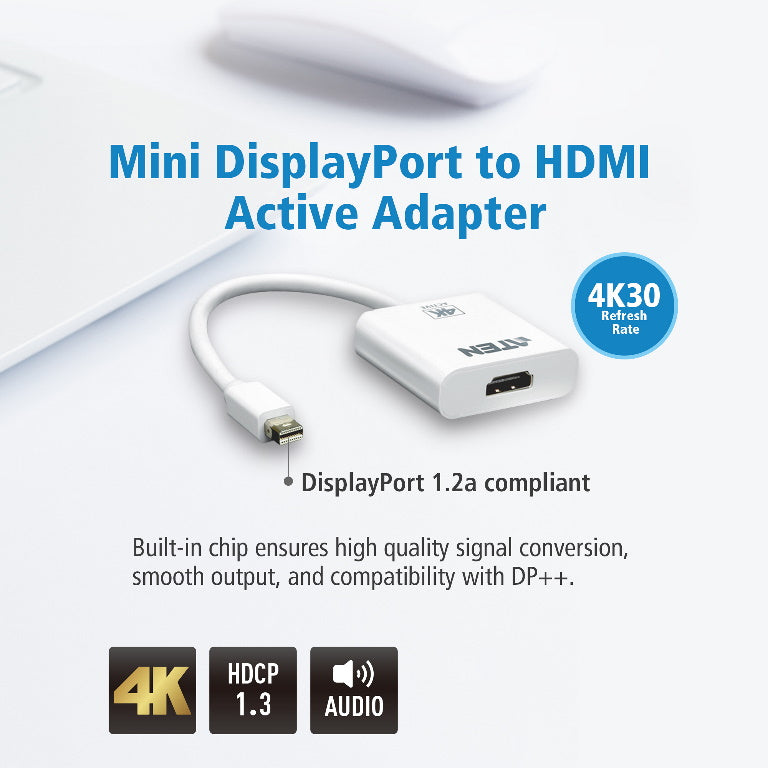 Aten VanCryst mDP(M) to HDMI(F) Active 4K2K Adapter