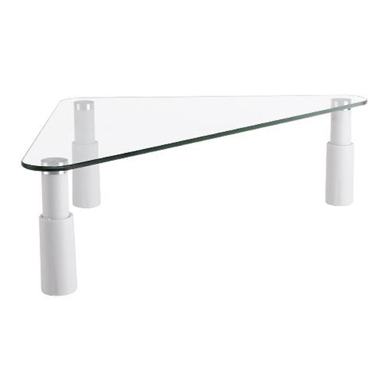 Brateck Universal Tempered Glass Corner Tabletop Monitor Riser LS