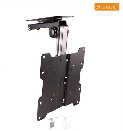 Brateck Fold-up Retractable TV Ceiling Mount,For Flat Ceiling, Pitched Roof, for 17'-37' LED, LCD TVs and Screens