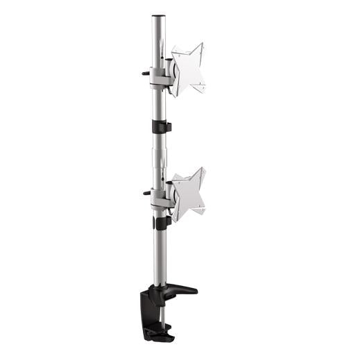 Brateck Dual Monitor Vertical Arm & Desk Clamp VESA 75/100mm Up to 27'(LS)
