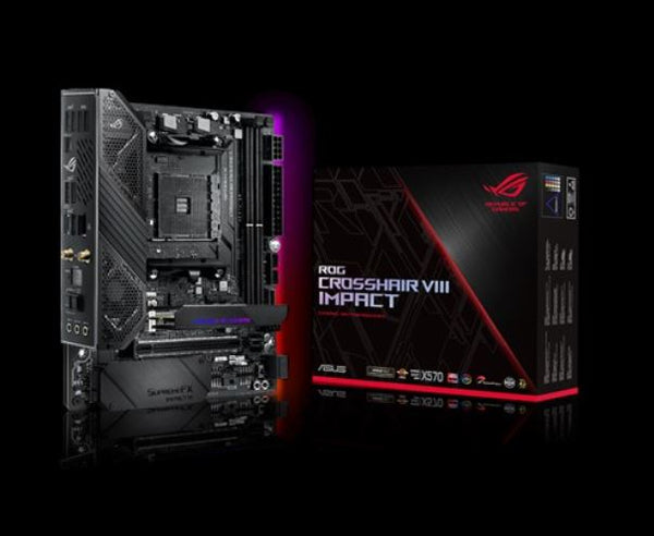 ASUS ROG CROSSHAIR VIII IMPACT AMD AM4 X570 Mini-DTX Enthusiast Gaming Motherboard with SO-DIMM.2 Card (dual M.2), Wi-Fi 6 (802.11 ax),