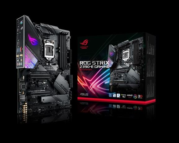 ASUS ROG STRIX Z390-E GAMING Intel Z390 LGA 1151 ATX Gaming MB, DDR4 4266, 11ac Wi-Fi, Dual M2 For 8th/9th Gen Pentium/Celeron CPUs