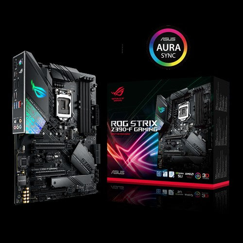 ASUS ROG STRIX Z390-F GAMING Intel Z390 LGA 1151 ATX Gaming MB, DDR4 4266, Dual M2 For 8th/9th Gen Pentium/Celeron CPUs