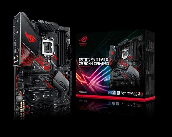 ASUS ROG STRIX Z390-H GAMING Intel Z390 LGA 1151 ATX Gaming MB, DDR4 4266, Dual M2 For 8th/9th Gen Pentium/Celeron CPUs