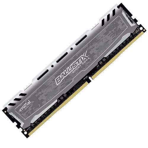 Crucial Ballistix Sport LT 4GB (1x4GB) DDR4 UDIMM 2400MHz CL16 SR x8 288pin Gaming Memory for Desktop PC Grey Color