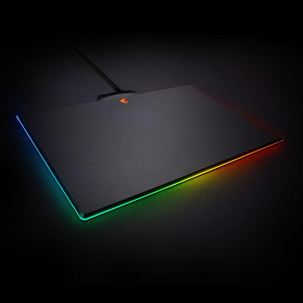 Gigabyte AORUS P7 RGB Fusion Gaming Mouse Pad Micro-Textured Surface Mat Non-Slip Rubber Base Detachable Braided Cable Plastic 350x240x4.6mm