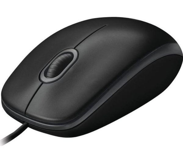 Logitech B100 Optical USB Mouse 800dpi for PC Laptop Mac Tux Full Size Comfort smooth mover 3yr wty