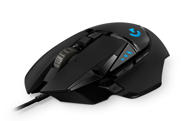 Logitech G502 Hero High Performance Gaming Mouse11 Programmable Buttons 16,000 DPI Tunable weight RGB 1ms 121g 2.1m LS
