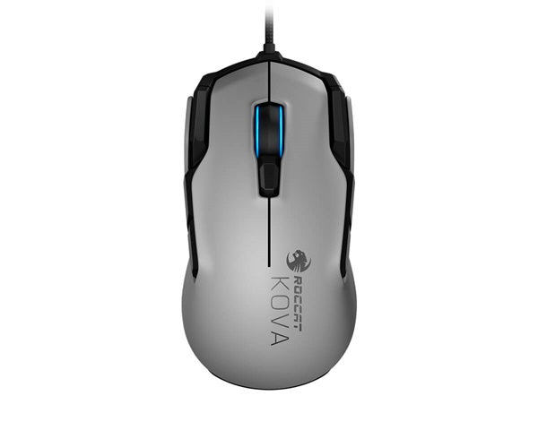 Roccat KOVA AIMO Performance Gaming Mouse White - 7000 DPI / 12 Buttons/RGB Lighting/16.8M Multi-Colour Illumination/32-bit ARM MCU/ On-board Memory
