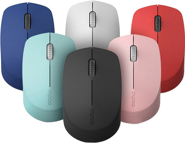 RAPOO M100 2.4GHz & Bluetooth 3 / 4 Quiet Click Wireless Mouse Blue - 1300dpi 3 Devices