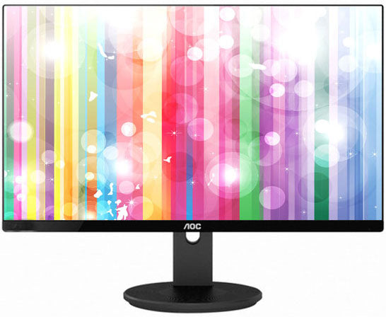 AOC 27' IPS 5ms Full HD Frameless Monitor - VGA/HDMI/DP Speaker VESA100mm