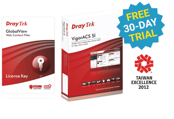 Draytek Web Content Filter Package for VigorFly 210 / Vigor2110 / 2120 / 2130 / 2710 / 2750 / 2760 / 2912 series 2yr wty