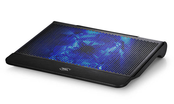 Deepcool N6000 Notebook Cooler Black (Up to 17'), Blue LED, 200mm Fan, Storage Cage, 2x USB