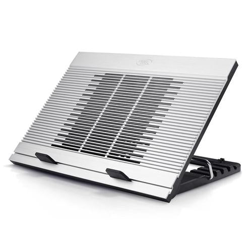 Deepcool N9 Notebook Cooler (Up To 17'), 180mm Fan, 5 Angles, Aluminium, Speed Adjustable, Silver