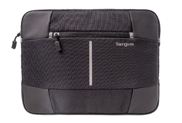 Targus 13-14'' Bex II Laptop Sleeve - Weather-resistant & rip-stop fabrication - Black with black trim