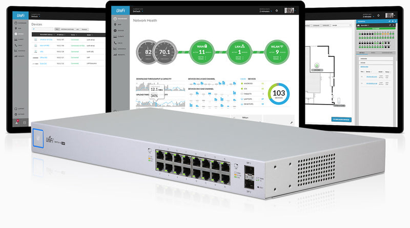 Ubiquiti UniFi 16-port Managed PoE+ Gigabit Switch with SFP 150W