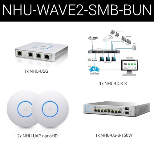Ubiquiti Wave2 UniFi Wireless and Security Small Business Bundle